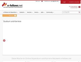 Main page screenshot of e-fellows.net