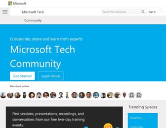 techcommunity.microsoft.com screenshot