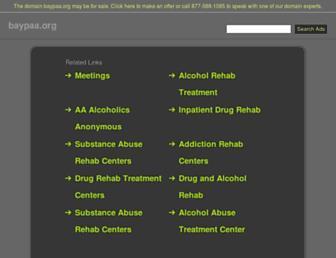 Main page screenshot of baypaa.org