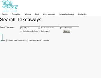 Thumbshot of Take-a-way.co.uk