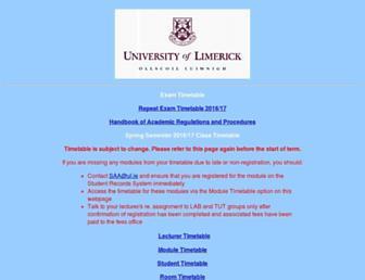 timetable.ul.ie screenshot