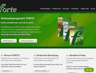 forte-notensatz.de screenshot