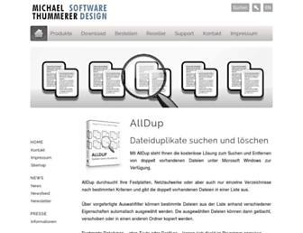 alldup.de screenshot