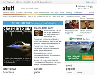 Main page screenshot of stuff.co.nz