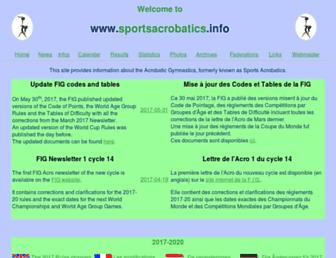 sportsacrobatics.info screenshot