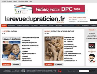 Main page screenshot of larevuedupraticien.fr