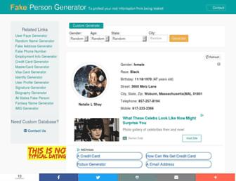 fakepersongenerator.com screenshot