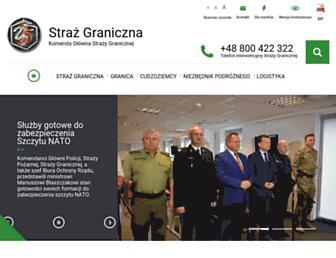 Main page screenshot of strazgraniczna.pl