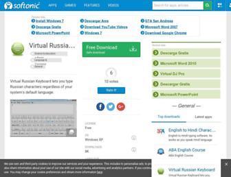 virtual-russian-keyboard.en.softonic.com screenshot