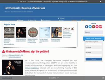 fim-musicians.org screenshot