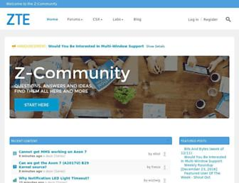 community.zteusa.com screenshot
