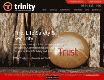 trinityfireandsecurity.com screenshot