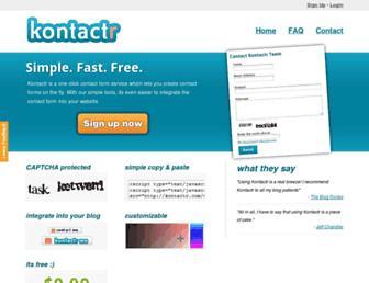 Thumbshot of Kontactr.com
