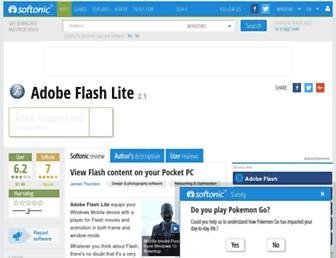 adobe-flash-lite.en.softonic.com screenshot