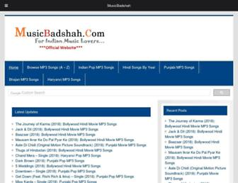 musicbadshah.org screenshot