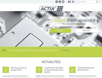 actia.com screenshot