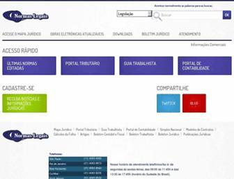normaslegais.com.br screenshot