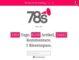 Main page screenshot of 78s.ch