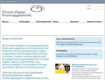 cdg.ac.at screenshot