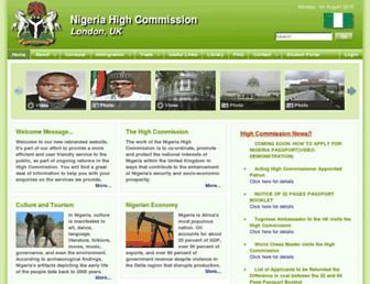nigeriahc.org.uk screenshot