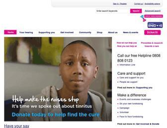 Main page screenshot of rnid.org.uk