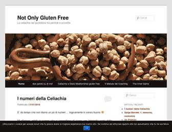 Main page screenshot of notonlyglutenfree.org