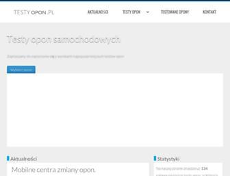 Main page screenshot of testyopon.pl