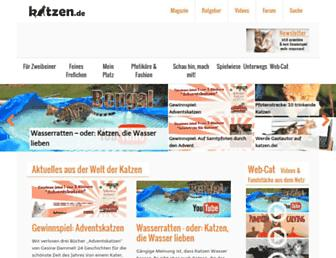 Main page screenshot of katzen.de