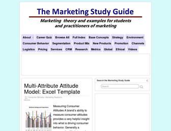 marketingstudyguide.com screenshot