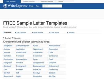 writeexpress.com screenshot