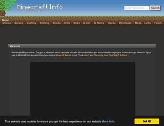 Thumbshot of Minecraftinfo.com
