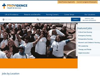 Main page screenshot of providenceiscalling.jobs