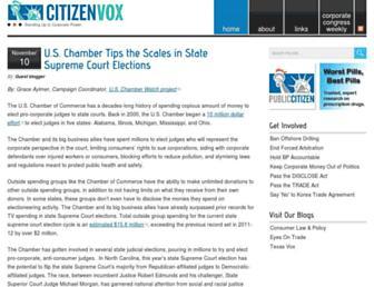 Main page screenshot of citizenvox.org