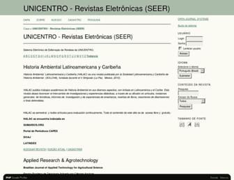 revistas.unicentro.br screenshot