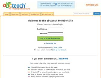 members.abcteach.com screenshot