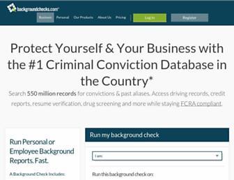 Thumbshot of Backgroundchecks.com