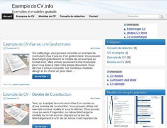 exempledecv.info screenshot