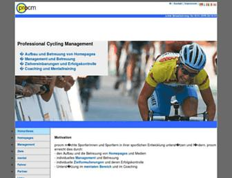 Main page screenshot of procm.ch
