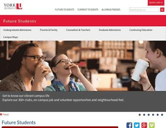 futurestudents.yorku.ca screenshot