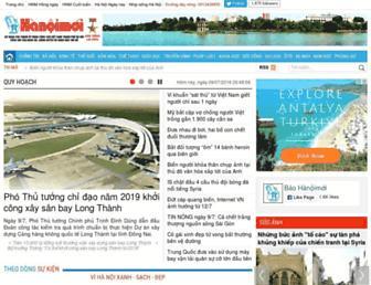 Main page screenshot of hanoimoi.com.vn