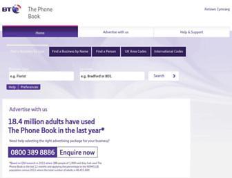 thephonebook.bt.com screenshot