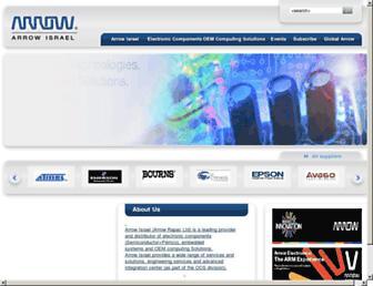 Main page screenshot of arrow-israel.co.il