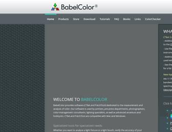 babelcolor.com screenshot