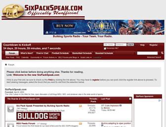 forums.sixpackspeak.com screenshot