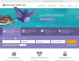 advocatehealth.com screenshot