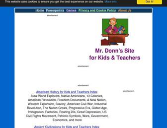 Main page screenshot of mrdonn.org