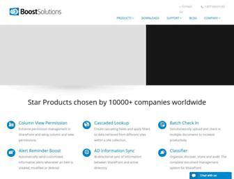 boostsolutions.com screenshot