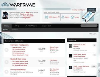 forums.warframe.com screenshot