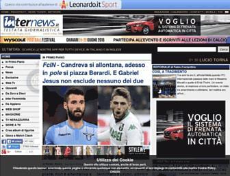 Main page screenshot of fcinternews.it