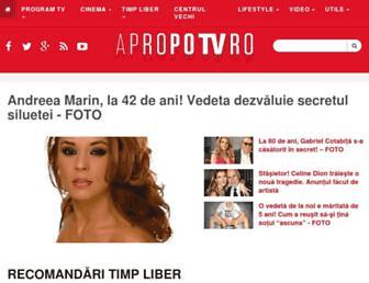 apropotv.ro screenshot